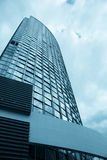 Blue corporate building Stock Images
