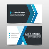 Blue corporate business card, name card template ,horizontal simple clean layout design template ,. Business banner template for website Stock Photo