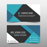 Blue corporate business card, name card template ,horizontal simple clean layout design template , Business banner template Stock Image