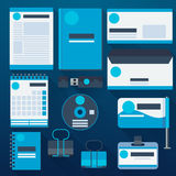 Blue corporate identity template Royalty Free Stock Photography