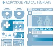 Blue Corporate medical presentation. Report template. Human backgrounds, blue Vector cover and layout Great for scientific, medical purposes, exam Stock Photo