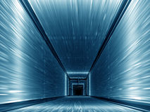 Blue corridor. Blue long corridor.Rendered from 3d Studio Max vector illustration