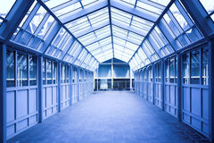 Blue corridor Royalty Free Stock Image