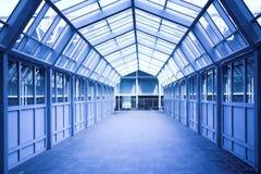 Blue corridor Royalty Free Stock Image