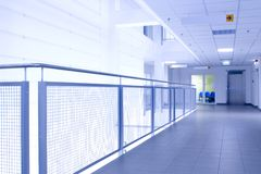 Blue corridor (abstract) Stock Images