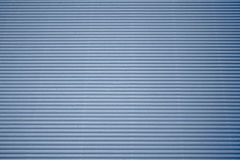 Blue corrugated cardboard Stock Photography