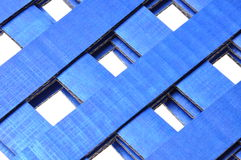 Blue corrugated cardboard Royalty Free Stock Photo
