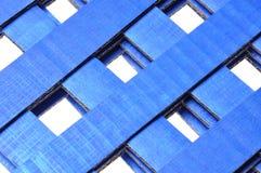 Blue corrugated cardboard Royalty Free Stock Photo