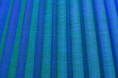 Blue corrugated fabric texture.Background. Royalty Free Stock Photo