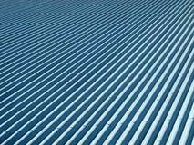 Corrugated galvanised iron. Blue corrugated galvanised iron for background royalty free stock photo