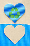 Blue corrugated Royalty Free Stock Photo