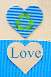 Blue corrugated Stock Images