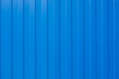 Blue corrugated iron Royalty Free Stock Photos
