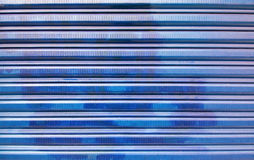 Blue corrugated iron background Stock Photography