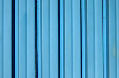 Blue corrugated iron sheet Royalty Free Stock Images