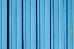 Blue corrugated iron sheet Royalty Free Stock Images