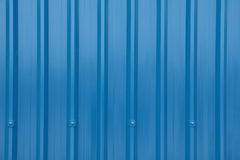 Blue Corrugated Longrun Iron Stock Images