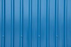 Blue Corrugated Longrun Iron Stock Images