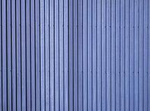 Blue corrugated metal Stock Photo