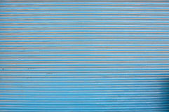 Blue corrugated painted metal background texture Royalty Free Stock Photos