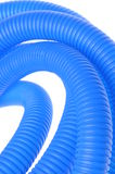 Blue corrugated pipe for electrical cables Royalty Free Stock Photography