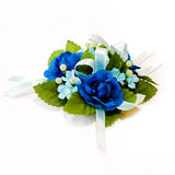 Blue corsage Royalty Free Stock Images