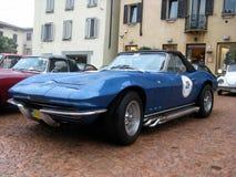 Blue Corvette Royalty Free Stock Photography