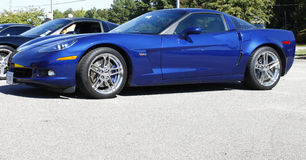 A Blue Corvette ZS1 Stock Photography