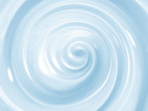 Blue cosmetic cream swirl Royalty Free Stock Images