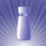Blue cosmetic tube Royalty Free Stock Images