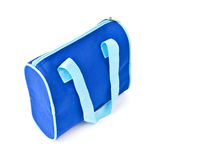 Blue cosmetics bag isolated Royalty Free Stock Photos