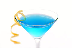 Blue Cosmopolitan cocktail Royalty Free Stock Photography