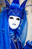 Blue costume at the Venice Carnival Royalty Free Stock Photography