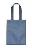 Blue cotton bag isolated on white Royalty Free Stock Photos