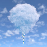 Blue cotton candy Stock Photo