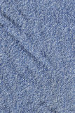 Blue Cotton Denim Fabric Texture Sample Stock Image