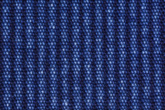 Blue cotton denim jeans fabric texture background, close up Stock Photography