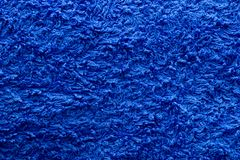 Blue cotton fabric Royalty Free Stock Image