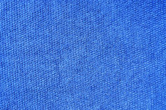 Blue cotton fabric Stock Photos