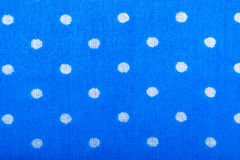 Blue cotton fabric texture Stock Images