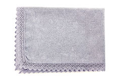Blue cotton napkin on white Stock Images