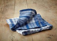 Blue cotton napkin Royalty Free Stock Photo