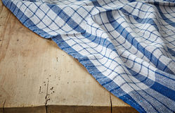Blue cotton napkin Royalty Free Stock Photography