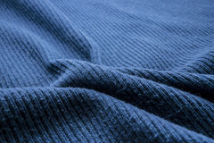 Blue cotton ribbed fabric Stock Photography