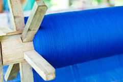Blue cotton weave Royalty Free Stock Image