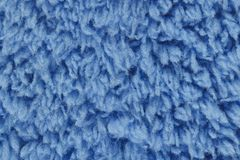 Blue cotton wool texture for pattern and background Royalty Free Stock Photo