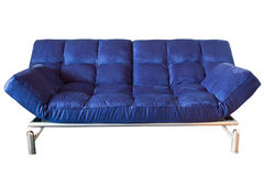 Blue couch. Modern blue couch isolated with clipping path Stock Photos
