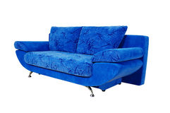Blue couch isolated on white background Royalty Free Stock Photo