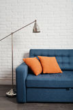Blue couch Stock Image