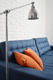 Blue couch Royalty Free Stock Image